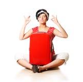 Meditation vor Feiertagen Stockbild