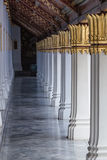 Meditation Walkway. Walkway around Thai temple, for meditation Stock Photos