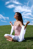 Meditation of woman Royalty Free Stock Photo