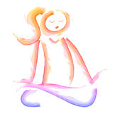 Meditation woman icon Royalty Free Stock Images