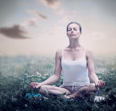 Meditation Woman. Yoga Royalty Free Stock Photos
