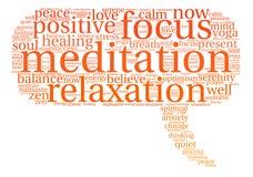 Meditation Word Cloud Stock Image