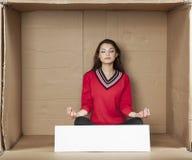 Meditation before work Royalty Free Stock Photo