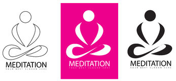 Meditation Yoga logo Royalty Free Stock Photo