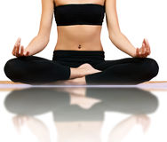 Meditation yoga pose Royalty Free Stock Photos