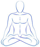 Meditation Yoga Position Stock Photo