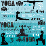 Meditation and yoga vector. Illustration Royalty Free Stock Images