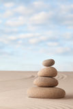Meditation zen sand and stone garden Royalty Free Stock Photography