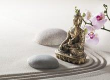 Meditationavkoppling med religiöst symbol fotografering för bildbyråer