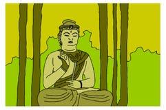 MeditationBuddha Royaltyfria Bilder