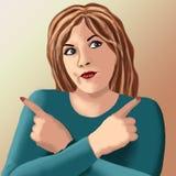 Meditationdrömmerisinnesrörelser en dam för glamourstudioklänning som ser wh för leende för uttryckspersonfolk röd gullig le nätt stock illustrationer