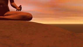 Meditationen poserar - 3D framför vektor illustrationer