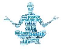 Meditationen som vägen att nå fram till fred av meningen arkivfoto