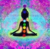 Meditationflicka Royaltyfria Bilder