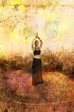 meditationkvinna Arkivbilder
