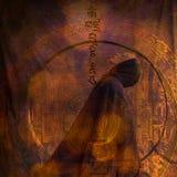 meditationkvinna royaltyfri illustrationer