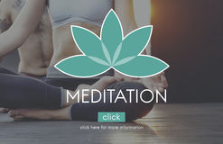 Meditations-Balancen-Yoga Zen Serenity Relaxation Concept Lizenzfreie Stockfotografie