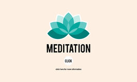 Meditations-mittelbares Abkommen-Vereinbarungs-Konzept stock abbildung