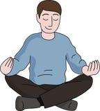 Meditationsmann Stockfoto