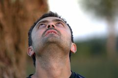 Meditationsmann Lizenzfreies Stockfoto