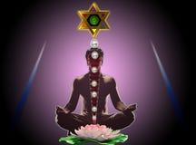 meditationyoga Arkivbilder