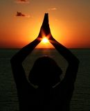 meditationyoga Arkivfoton