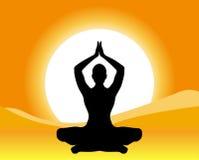 meditationyoga royaltyfri illustrationer