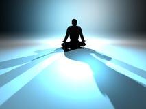 meditationzen royaltyfri illustrationer