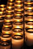 Meditativa stearinljus Arkivbilder