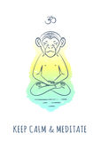 Meditative Animals series 2 Royalty Free Stock Image