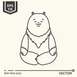 Meditative Animals series - bear stock illustration