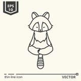Meditative Animals series - raccoon Royalty Free Stock Photo