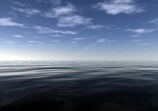 Meditative Calm and Peaceful Ocean. Calm and Peaceful Ocean is a great 3D background for any nature related project Stock Images