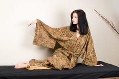 Meditative girl Royalty Free Stock Images