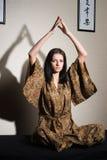 Meditative girl Royalty Free Stock Photography