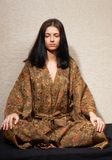 Meditative girl Stock Images