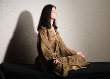 Meditative girl Royalty Free Stock Images