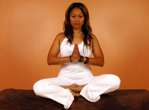 Meditative Pose Royalty Free Stock Photos