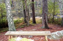 Meditative resting place. After the hiking trail there is this beautiful resting place Royalty Free Stock Photo