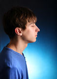 Meditative Young Man Stock Photo