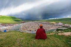 Meditator de la universidad de Yaqing Buda Imagen de archivo