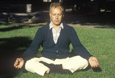 A meditator in sun light in Philadelphia Pennsylvania Stock Photos