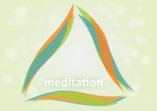 Meditazione illustrazione di stock