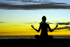 Meditazione. Fotografie Stock