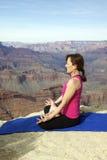 Meditazione al grande canyon Fotografie Stock