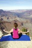 Meditazione al grande canyon Fotografia Stock