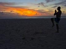 Meditazione in Aruba Fotografia Stock Libera da Diritti