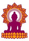 Meditazione - Buddha - fiore di Lotus Immagine Stock