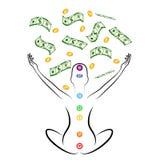Meditazione dei soldi Fotografia Stock Libera da Diritti
