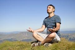 Meditazione del loto di yoga Immagine Stock